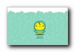 油爆叽丁三月下雨天 可爱卡通宽屏壁纸