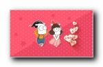 鬼马咚咚可爱卡通宽屏壁纸