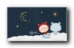 小淘小金可爱卡通十二星座宽屏壁纸