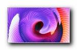 苹果MacBook Pro炫彩3D纹理宽屏壁纸
