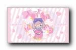 Lapin甜甜女孩可爱卡通宽屏壁纸