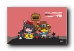 蘑菇点点暗黑童话语录可爱卡通宽屏壁纸