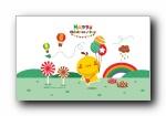 摩丝摩丝 六一儿童节可爱卡通宽屏壁纸
