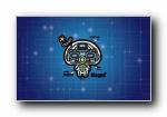 蘑菇点点 机械战士系列可爱卡通宽屏壁纸