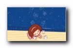 摩丝摩丝清凉夏日 可爱卡通宽屏壁纸
