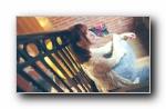咖啡馆里的妹子 美女摄影宽屏壁纸