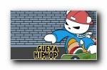 格瓦熊复古风格潮流可爱卡通宽屏壁纸