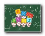 摩丝摩丝 感恩老师 教师节可爱卡通宽屏壁纸