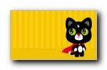 闪电猫 可爱卡通宽屏壁纸