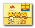 摩丝摩丝哈咪猫中秋节可爱卡通宽屏壁纸