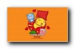 2017年国庆节可爱卡通宽屏壁纸(哈咪猫,摩丝摩丝,秋田君,油爆叽丁)