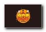 哈咪猫 2017万圣节 可爱卡通宽屏壁纸