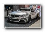 宝马M4 改装跑车银色宽屏壁纸