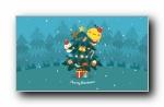 油爆叽丁 2018圣诞可爱卡通宽屏壁纸