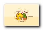 吃货哈咪猫 哈咪猫吃吃吃 可爱卡通宽屏壁纸