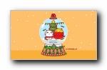 哈咪猫 2018年欢乐圣诞节 可爱卡通宽屏壁纸