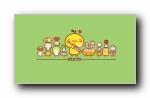 油爆叽丁《美食》可爱卡通宽屏壁纸
