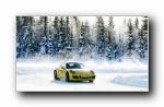 保时捷跑车雪地摄影宽屏壁纸