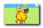 哈咪猫和夏天有个约会 可爱卡通宽屏壁纸