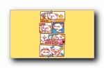 秋田君可爱漫画宽屏壁纸