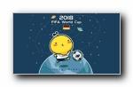 油爆叽丁世界杯可爱卡通宽屏壁纸