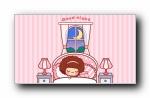 摩丝摩丝和小猪 可爱卡通宽屏壁纸