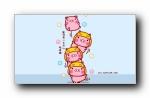 哈咪猫《猪你快乐》可爱卡通宽屏壁纸