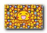 哈咪猫来了 可爱卡通宽屏壁纸