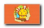 哈咪猫中国风 可爱卡通宽屏壁纸