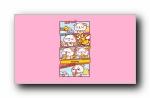 秋田君可爱简约小漫画宽屏壁纸