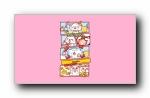 秋田君小漫画 可爱卡通宽屏壁纸