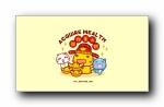 哈咪猫《猪年新年好》可爱卡通宽屏壁纸