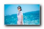 章子怡 阳光海滩 宽屏壁纸