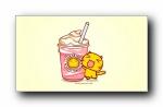 哈咪猫爱吃雪糕 可爱卡通宽屏壁纸