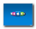 苹果可爱色彩立体质感壁纸