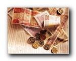 金融系列硬币与钞票