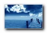 1280X800蓝色宽屏壁纸