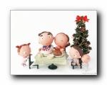 圣诞泥偶家族