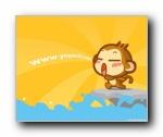 搞笑悠嘻猴壁纸