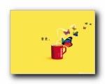 雀巢咖啡广告壁纸